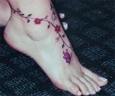 Foot Jewelry Patterns Free | Stylish-Eid-Flower-Feet-Tattoos-Designs- 6 | Stylenstyle.com | online ...