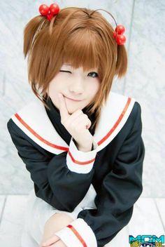 CardCaptor Sakura- Sakura Cosplay  Right down to the expression. :)