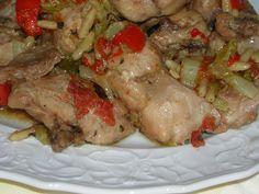 coniglio alla sivigliana pronto da servire Antipasto, Love Food, Rabbit, Spaghetti, Pork, Turkey, Cooking Recipes, Chicken, Crock Pot