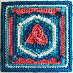This square with such an unusual design and a very interesting central motif requires intermediate/advanced level crochet knowledge. The Triquetra Celtic Knot Afghan Block by Joyce Lewis is a spectacular pattern which opens up fresh and new possibilities to the world of crochet art. With elements of design inspired by the Celtic culture, this fascinating …