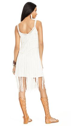 Denim & Supply Ralph Lauren: The white macramé overlay dress is perfect for summer evenings