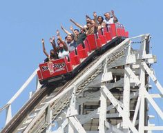 A Family in Flip Flops: Hang on for a Wild RideAt seventh grade orientatio. Roller Coasters, Six Flags America, Run Today, Seventh Grade, Wooden Coasters, Wild Ones, Golden Gate Bridge, Park