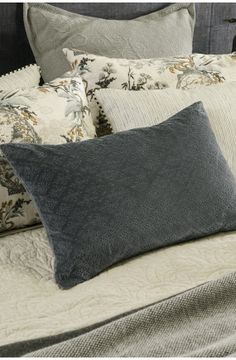 sashiko charcoal cushion