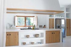 New Kitchen Storage Ideas For Small Spaces Cupboards Ceilings Ideas Kitchen Dinning, New Kitchen, Küchen Design, House Design, Concrete Kitchen, Beautiful Kitchens, Home Kitchens, Small Spaces, Sweet Home