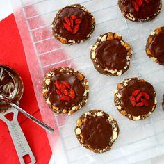 Paleo Christmas Cookies: Hazelnut Caramel clusters