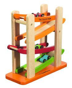 6 pista de carros brinquedos de madeira