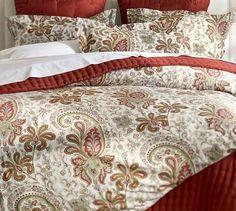 Master Bedroom? Charlie Paisley Organic Duvet Cover & Sham - Red #potterybarn