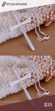 925 silver cross necklace Brand new no tags. Jewelry Necklaces