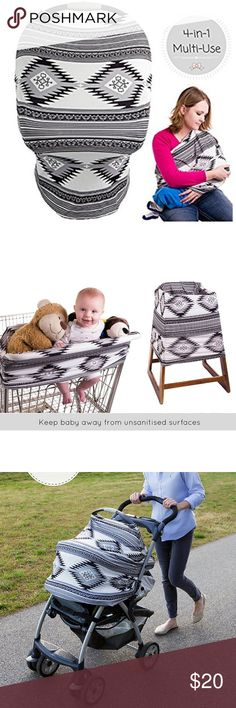 Baby Car Seat Canopy Baby Car Seat Canopy, Breastfeeding Cover, Stroller Sunshade, Nursing Scarf & Shopping Cart Cover By SimpleTots for Boys & Girls. Multi Use. Soft, Breathable and Stretchy Material (Aztec) Aztec Other