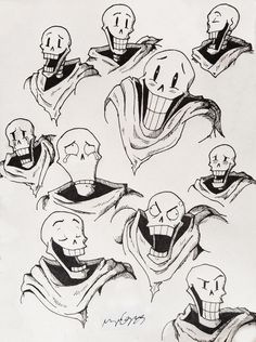 A bunch of Papyrus expressions ! Undertale Memes, Undertale Drawings, Undertale Cute, Undertale Fanart, Undertale Comic, Frisk, Drawing Tips, Drawing Reference, Flowey The Flower