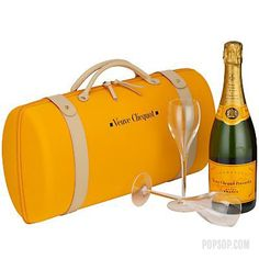 Veuve Clicquot Veuve Clicquot Champagne with Glasses (Veuve Clicquot, with a pair of Champagne flutes inside a travel case)