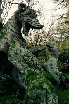 Bomarzo, Italy. An hour outside of Rome and a whole different world of Renaissance-era creativity. Like nothing else anywhere.