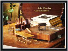 http://www.chinleeminiature.com/ miniature 1/12 scale furniture and accessories.