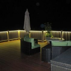 Deck and Balcony Design with LED Lighting - Traditional - Porch - san . Porch Lighting, Outdoor Lighting, Outdoor Decor, Rope Lighting, Lighting Ideas, Lighting Design, Exterior Lighting, Outdoor Spaces, Outdoor Balcony