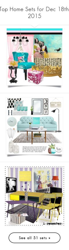 """Top Home Sets for Dec 18th, 2015"" by polyvore ❤ liked on Polyvore featuring interior, interiors, interior design, home, home decor, interior decorating, Liora Manné, OSP Designs, Eichholtz and Amara"