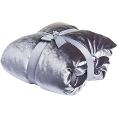 Wilko Crushed Velvet Effect Throw Silver 150 x 200cm (£16) ❤ liked on Polyvore featuring home, bed & bath, bedding, blankets, crushed velvet throw, grey throw, grey throw blanket, crushed velvet bedding and gray throw