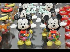 Passo a passo Baleiro mickey em biscuit PARTE1. - YouTube