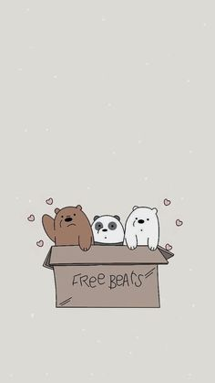 we bare bears wallpaper Iphone Lockscreen Wallpaper, Cute Wallpaper For Phone, Wallpaper Iphone Disney, Aesthetic Iphone Wallpaper, Aesthetic Wallpapers, Moomin Wallpaper, Bear Wallpaper, Kawaii Wallpaper, Cartoon Wallpaper