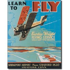 Learn to Fly Wall Tin