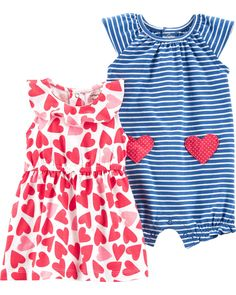 NWT Valentines Day Baby Girls Sleeveless Heart Print Bubble Romper Jumpsuit