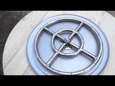 DIY: Make a propane fire pit from a flower pot - YouTube