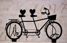 Wedding Cake Topper We Do Bicycle for Two by CakeTopperConnection