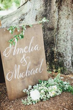 Simple and sweet: http://www.stylemepretty.com/2015/03/17/blogger-bride-colour-blocs-elegant-garden-wedding/ | Photography: First Mate - http://firstmatephoto.com/