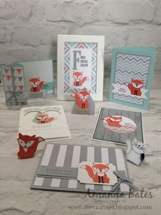 The Craft Spa - Stampin' Up! UK independent demonstrator : Foxy Suite #8 - The Round Up Picture....