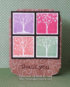 Thank You for All Seasons Card by Anne Gaal of Gaal Creative at http://www.gaalcreative.com - Feel free to re-pin! ♥