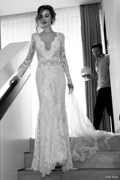 long sleeved wedding dress | fabmood.com