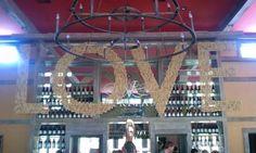 Hanging wine cork sign at Veritas Vineyards #PreppyPlanner