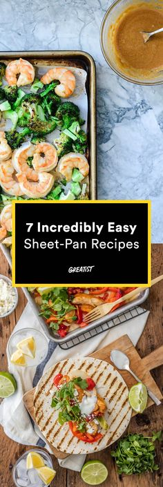 """For those """"I don't want to cook"""" days. https://greatist.com/eat/one-dish-meals-sheet-pan-recipes"""