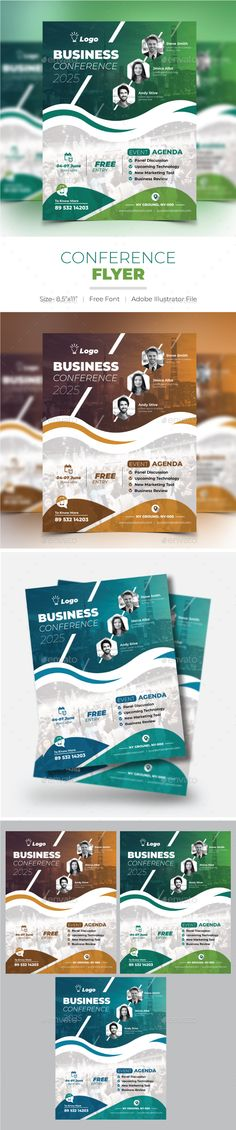 Conference Flyer - Corporate Flyers Corporate Flyer, Corporate Events, Music Flyer, Illustrator Cs5, Business Flyer Templates, Business Logo, Conference, Flyers, Speakers