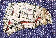 al idrisi map sicily 12th century document
