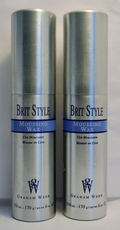 Graham Webb Brit Style Moussing Wax is extremely lightweight foam and will work to provide hair with fantastic texture.