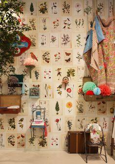Heimtex 2013. Botanical prints as wallpaper.
