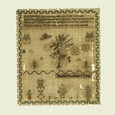 Sampler (USA), 1798 | Objects | Collection of Cooper Hewitt, Smithsonian Design Museum