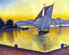 Paul Signac, The Port at Sunset, Saint-Tropez, Opus 236, 1892, private collection