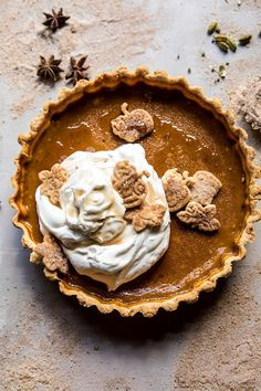 Chai Pumpkin Pie with Maple Whipped Cream. - Half Baked Harvest