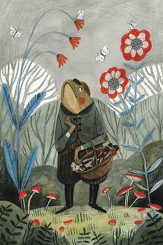 Pin on Art & Illustration Pretty Art, Cute Art, Frog Art, Children's Book Illustration, Cute Drawings, Graphic, Art Inspo, Art Reference, Concept Art