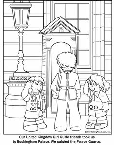 United Kingdom Girl Guide Coloring Page. More free printables on Makingfriends.com
