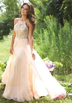Jovani Chiffon A Line Jovani Prom Dress 22084 at Prom Dress Shop