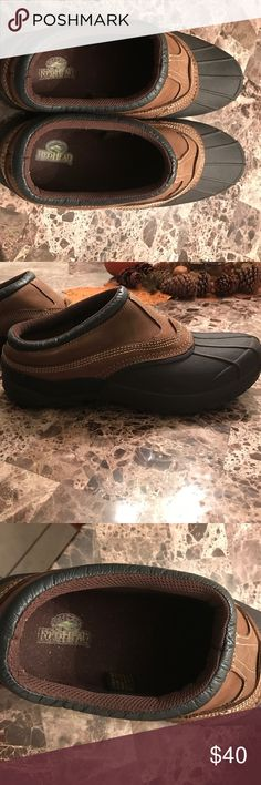 """!!!! Black Friday Deals!!!!! Men's redhead waterproof size 12 clogs. Excellent condition. Shoes"