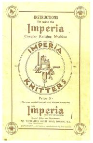 Link To Download Instruction To Use The Imperia Circular Knitting