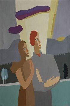 "amare-habeo: ""Charlotte Wankel (Norwegian, Portrait of Ingar Wankel and Elisabeth (Beth) Wankel, 1949 Oil on canvas "" Art Works, Classical Music, Digital Museum, Collaborative Art, Oil On Canvas, Canvas, Painting, Female Art, Art"