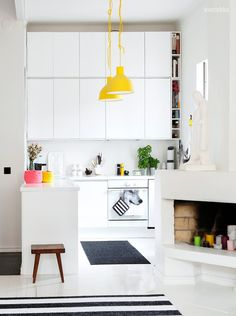 Yellow in the kitchen
