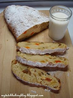 Kerststol : Traditional Dutch luxury bread that is eaten at Christmas time.