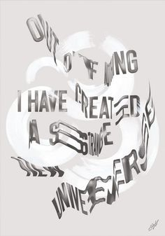 An experimental poster design with distorted type effectsby award-winning graphic design duo Sawdustfrom London, UK.