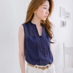 Sleeveless Lace-Trim Blouse from #YesStyle <3 Tokyo Fashion YesStyle.ca