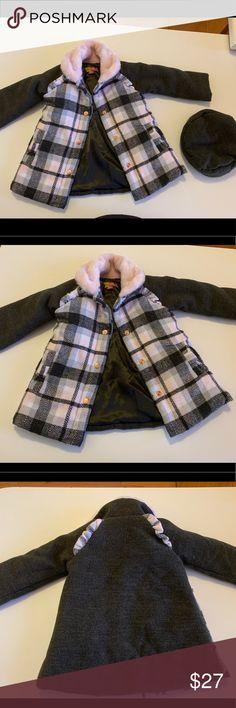 Penelope Mack Little girl Plaid Coat size 6 NWT $85